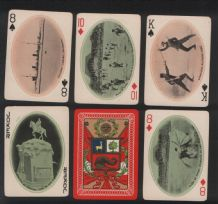 Antique  playing cards souvenir of Peru 1910